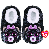 Kiki the Grey Cat Sequin Slippers Large