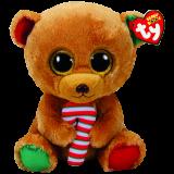 Christmas Bella the Brown Bear Medium Beanie Boo