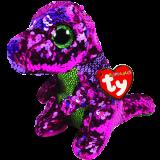 Stompy the Pink & Green Dinosaur Regular Flippable