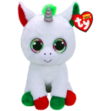 Candy Cane the Unicorn Christmas Large Beanie Boo