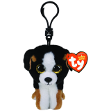 Roscoe the Black and White Dog Clip Beanie Boo