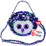 Moonlight the Purple Owl Sequin Purse Ty Fashion
