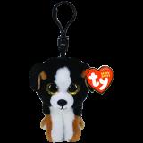 Roscoe the Black and White Dog Clip Beanie Boo