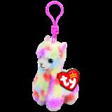 Lola the Multicoloured Llama Clip Beanie Babies