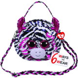 Zoey the Pink Zebra Sequin Purse
