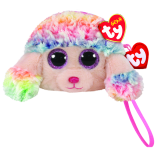 Rainbow the Multicoloured Poodle (wristlet)