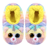 Heather the Cat with Horn Slippers Medium