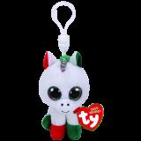 Candy Cane the Unicorn Christmas Clip Beanie Boo