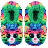 Tigerly the Rainbow Cat Slippers Medium