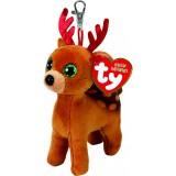 Tinsel the Brown Reindeer Beanie Babies Christmas (clip)