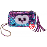 Moonlight the Owl  Sequin Square Purse