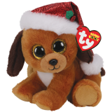 Christmas Howlidays the Dog with Hat Regular Beanie Boo