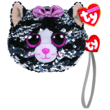 Kiki the Grey Cat Sequin Wristlet Ty Fashion