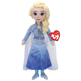 Frozen 2 Elsa Princess Medium Sparkle Beanie Babies
