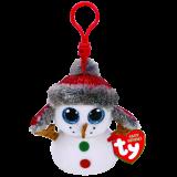 Buttons the Snowman Christmas Clip Beanie Boo