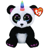Paris the Panda with Horn Medium Beanie Boo