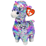 Lola the Multicoloured Llama Medium Flippable