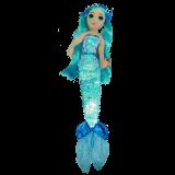 Indigo the Aqua Mermaid Medium Sea Sequins