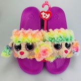 Rainbow the Multicoloured Poodle Slides Medium