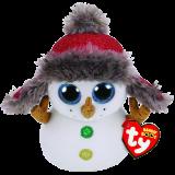 Christmas Buttons the Snowman Regular Beanie Boo