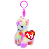 Lola the Multicoloured Llama Clip Beanie Babies