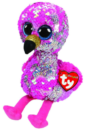 Pinky the Pink Flamingo Medium Flippable