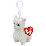Lily the Cream Llama Clip Beanie Babies
