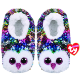 Owen the Multicoloured Owl Slippers Large