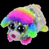 Rainbow the Multicoloured Poodle Sequin Teeny Tys