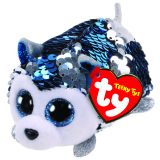 Slush the Blue Dog Sequin Teeny Tys