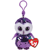 Moonlight the Purple Owl Clip Flippable