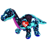 Tremor the Aqua & Pink Dinosaur Medium Flippable