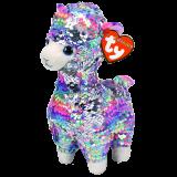 Lola the Multicoloured Llama Medium Flippable