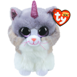 Asher the Cat with Horn Medium Beanie Boo