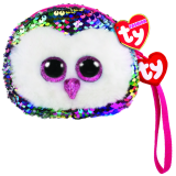 Owen the Multicoloured Owl Sequin Wristlet