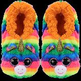 Gemma the Rainbow Unicorn Slippers Medium