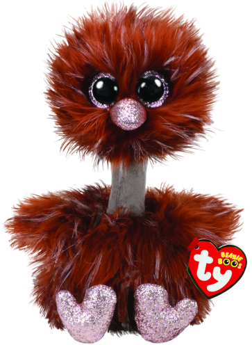 Orson the Brown Ostrich Medium Beanie Boo