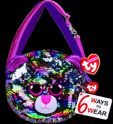Dotty the Multicoloured Leopard Sequin Purse Ty Fashion