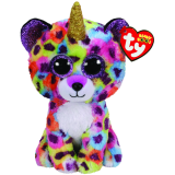 Giselle the Multicoloured Leopard with Horn Regular Beanie Boo