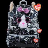 Kiki the Grey Cat Sequin Backpack