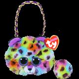 Giselle the muticoloured Leopard Mini Purse