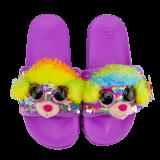 Rainbow the Multicoloured Poodle Sequin Slides Large