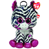 Zoey the Pink Zebra Sequin Backpack