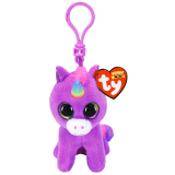 Rosette the Purple Unicorn Clip Beanie Boo
