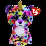 Giselle the Multicoloured Leopard with Horn Regular Beanie Boo