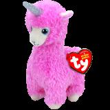 Lana the Pink Llama with Horn Regular Beanie Babies