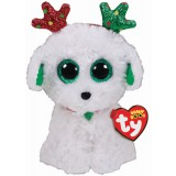 Sugar the Dog with Antlers Christmas Regular Beanie Boo