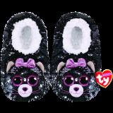 Kiki the Grey Cat Sequin Slippers Medium