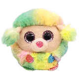 Rainbow the Multicoloured Poodle Ty Puffies