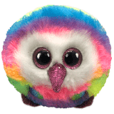 Owen the Multicoloured Owl Ty Puffies